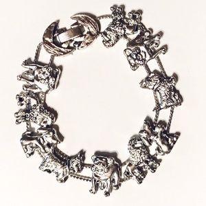 Jewelry - Silver dog slide/charm bracelet